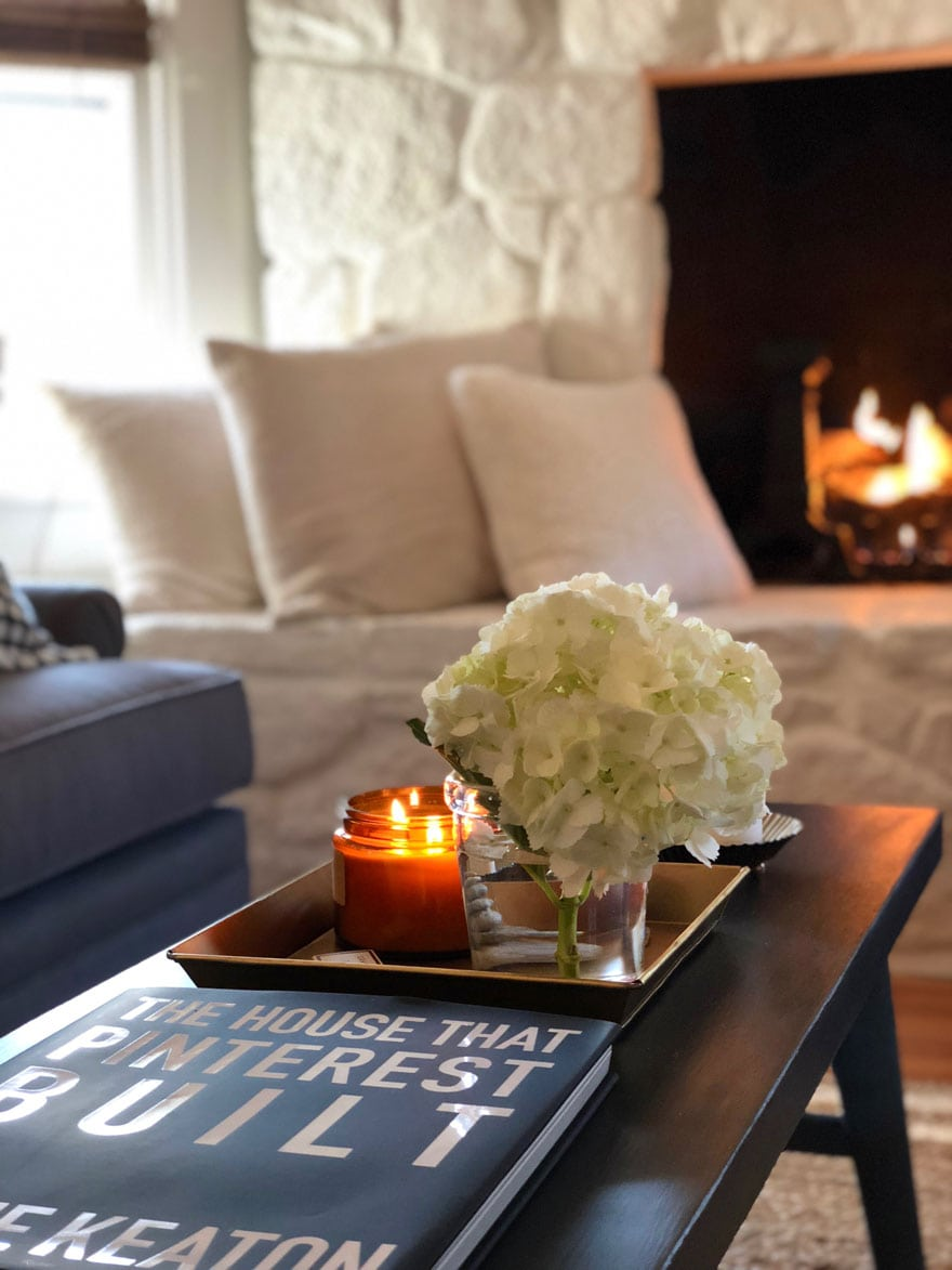 Coffee table styling with The House That Pinterest Built