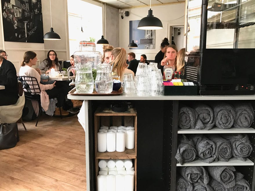 You can never have too many candles or throws! Cafes in Copenhagen are never short on Hygge.