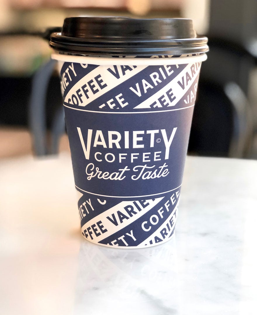 Old school coffee cup from Variety in New York City