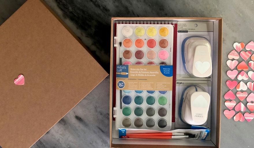 watercolor heart making kit