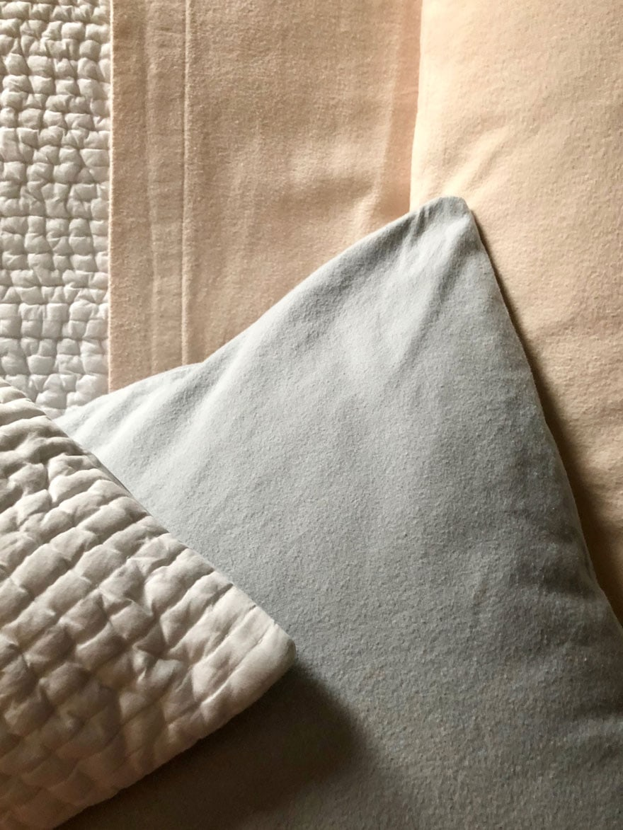 Bedding in pastels