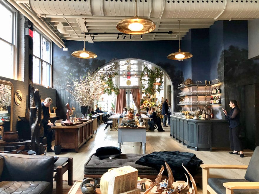 Lifestyle blogger Annie Diamond take you through the breathtaking space of Roman and Williams Guild in SoHo. home decor shop and cafe