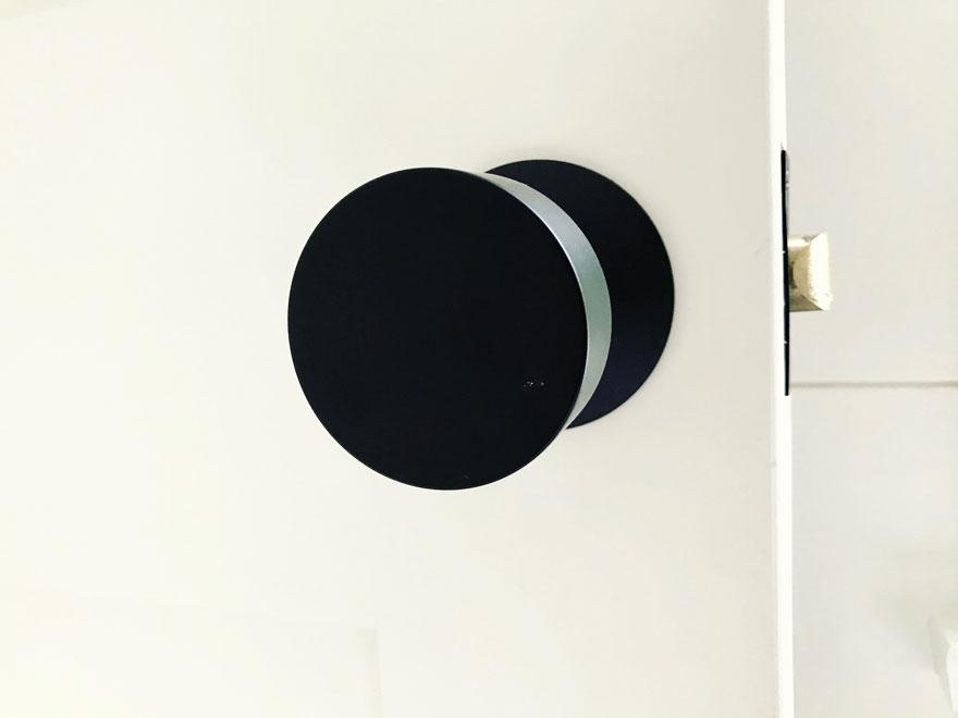 black modern door knob