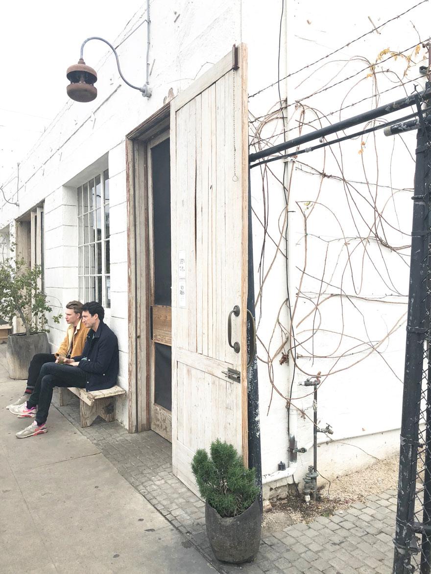 outdoor cafe in Venice, CA