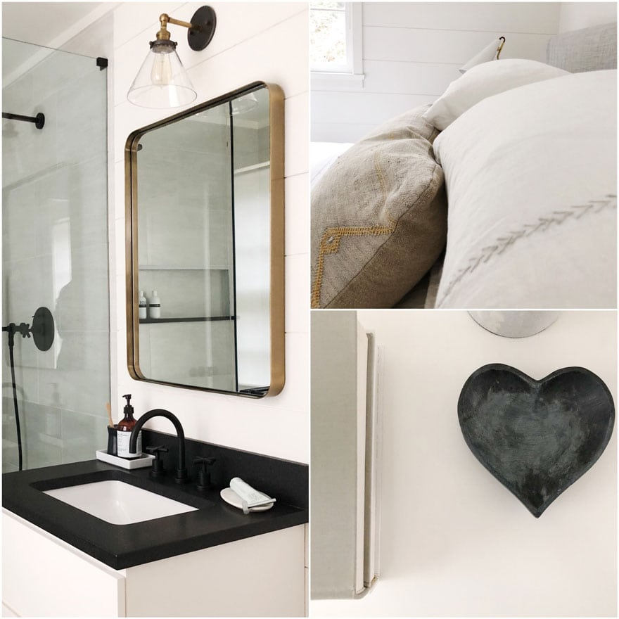 bathroom vanity, mirror, heart soap stone dish