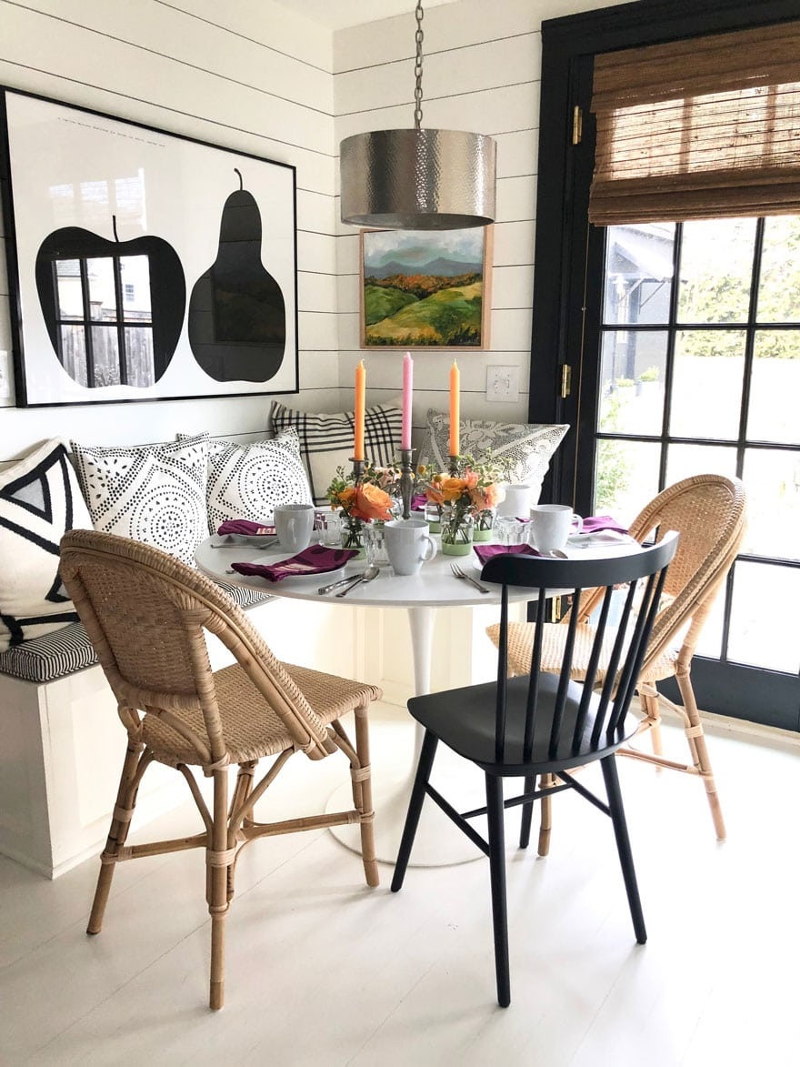 table and chairs in kitchen
