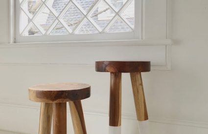 Win a pair of Serena & Lily dip-dyed stools + Instagram giveaway