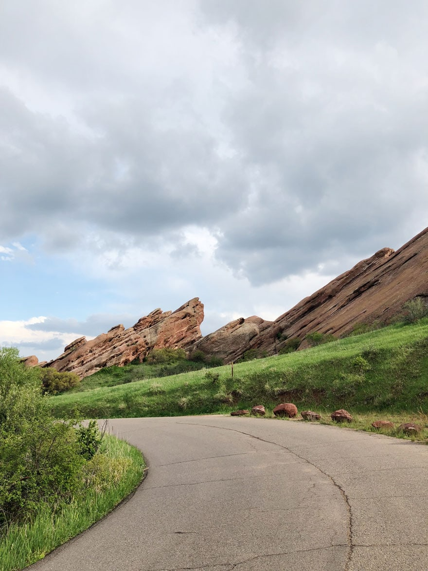 red rock park winding road