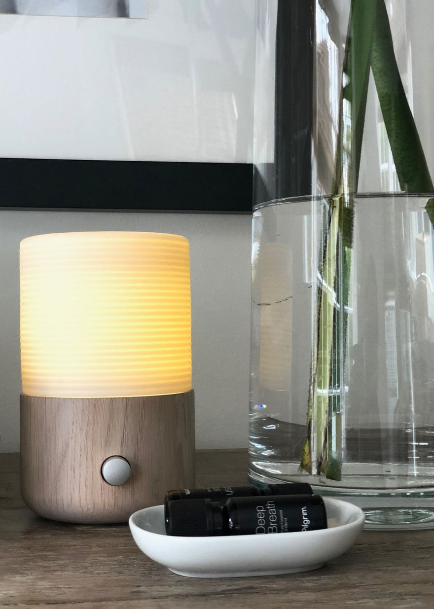 aromatherapy diffuser on table