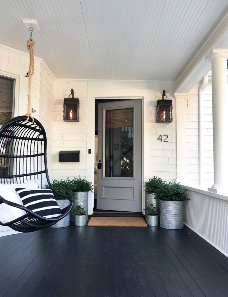 white house with gray door