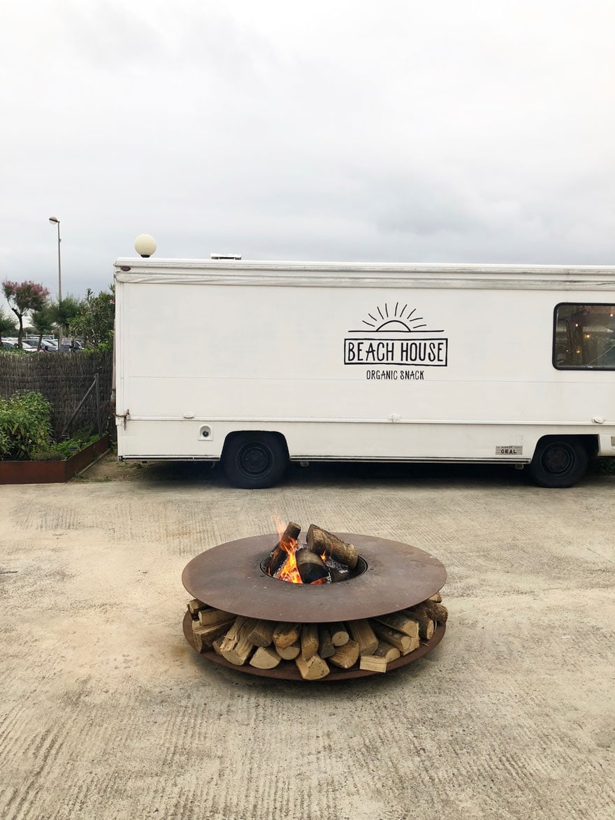 food truck fire pit