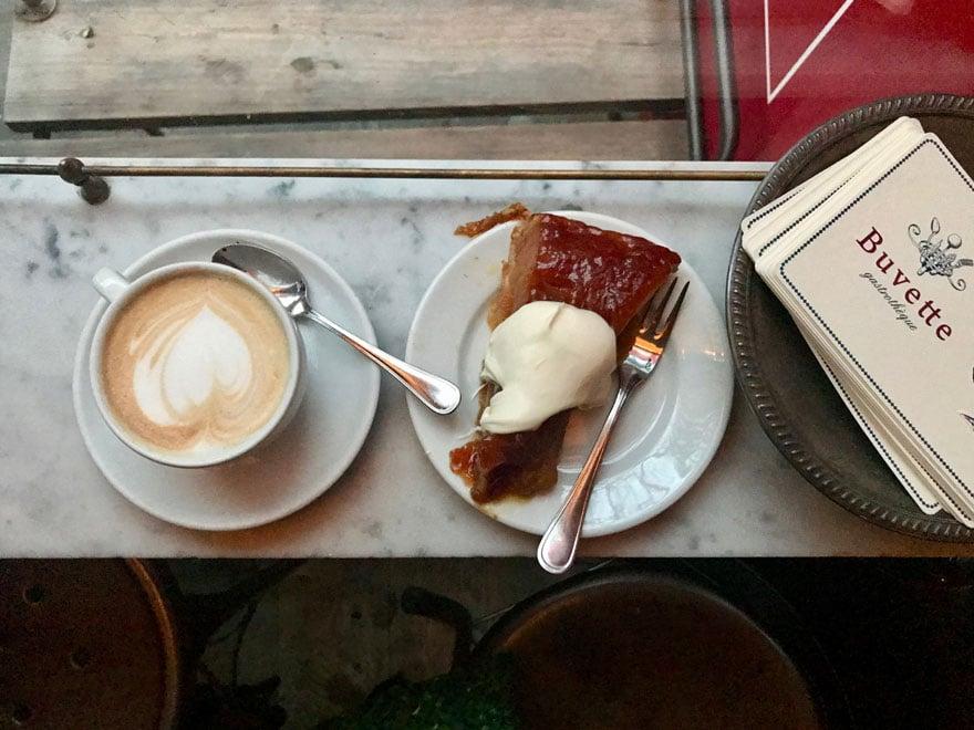 coffee and tarte tatin
