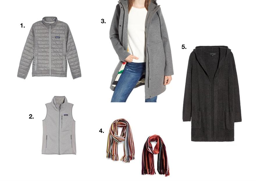 clothing coats vest sarves