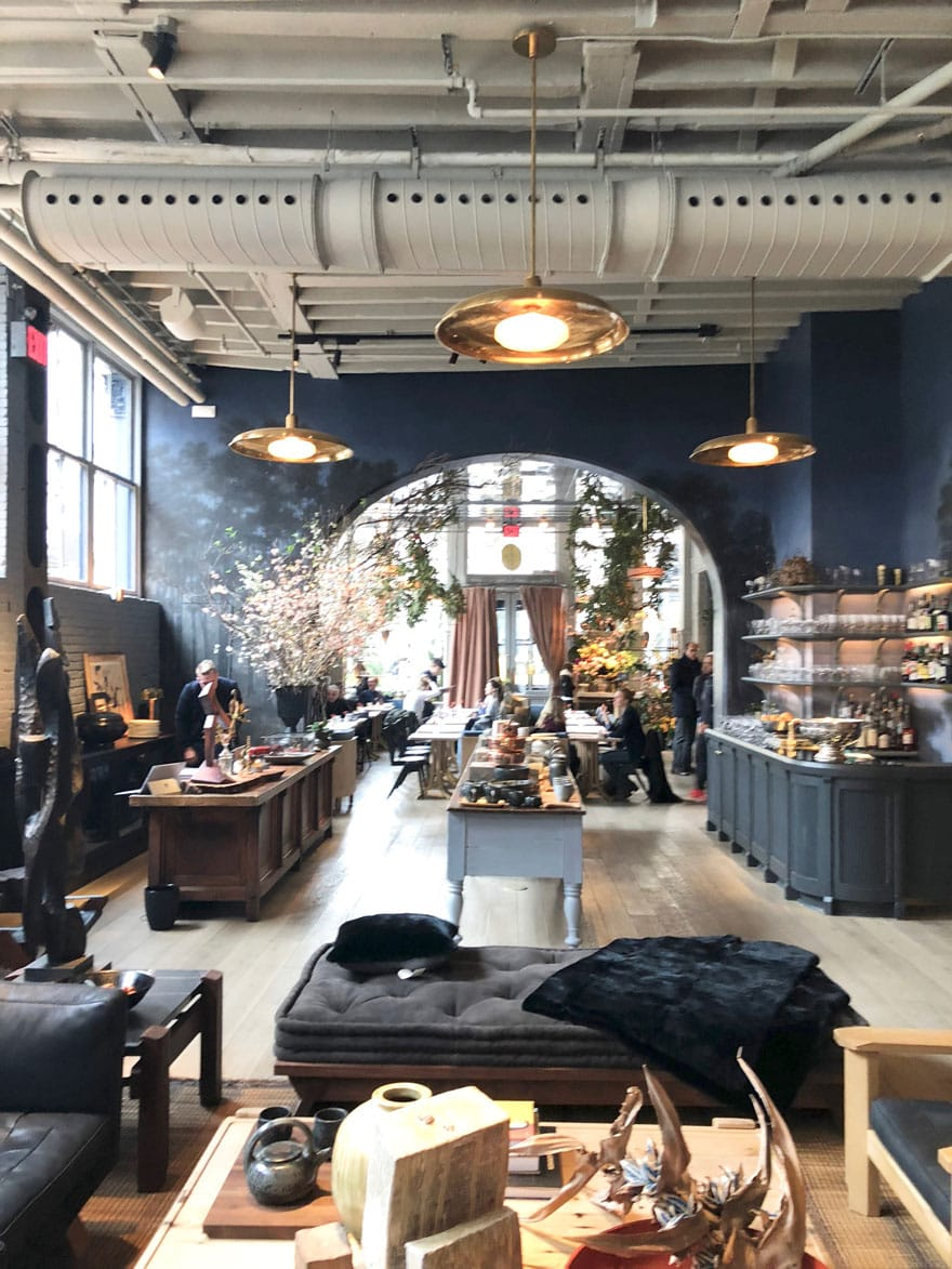 large view of a shop in SoHo