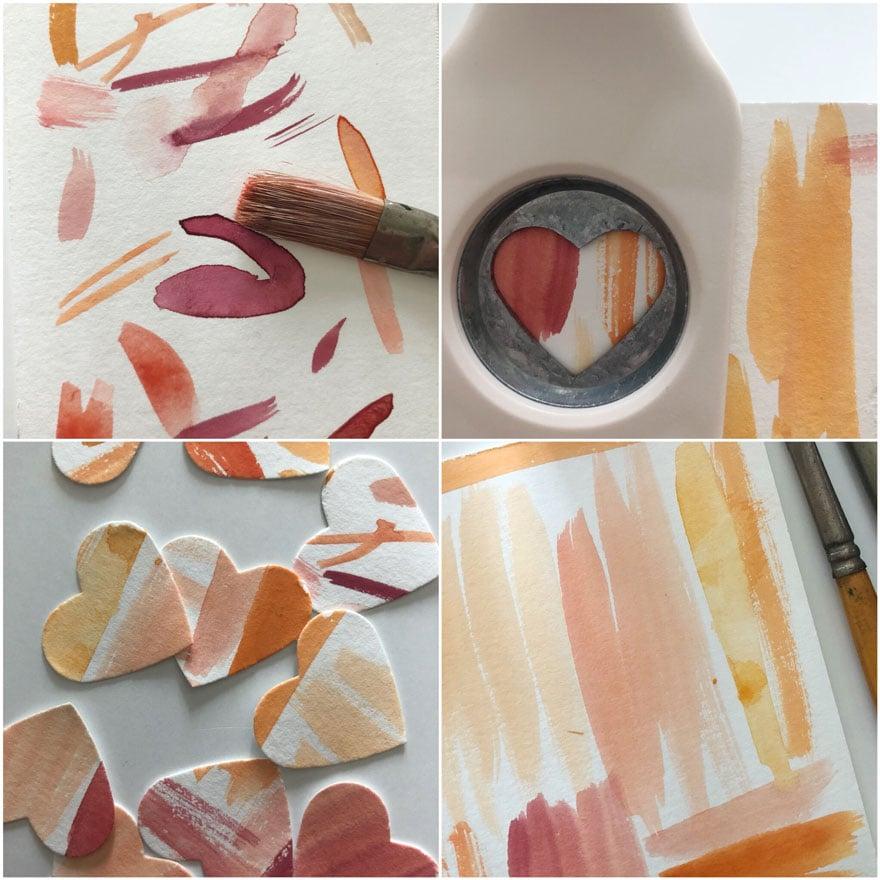 paint brush strokes, craft punch
