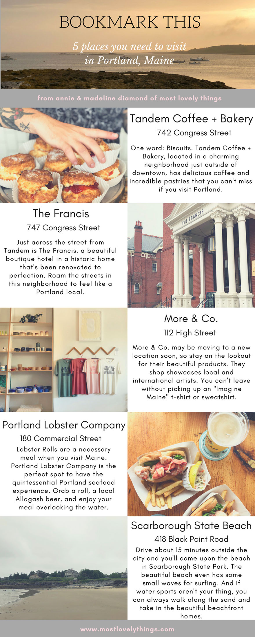 Bookmark This for your next visit to Portland, Maine! #portlandmaine #portland #maine #travel