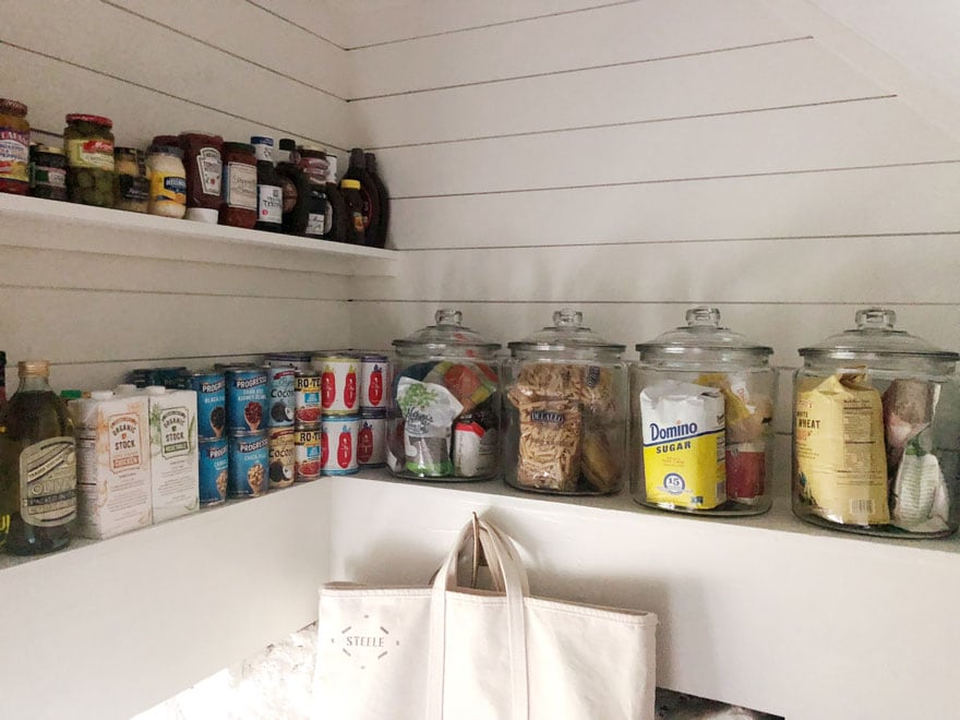pantry shelves jars