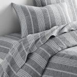 stripe linen bedding
