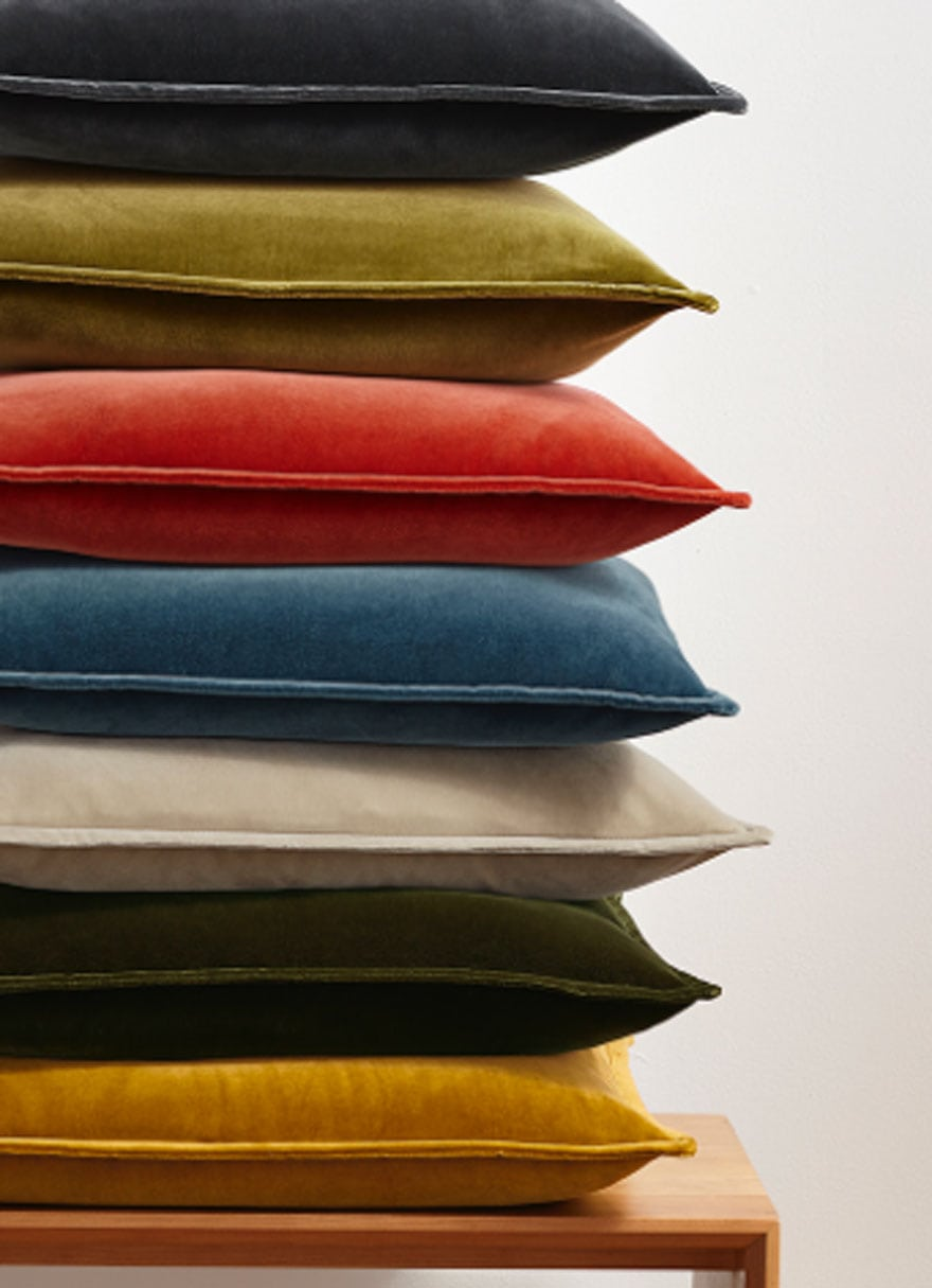 stack of pillows in different colors