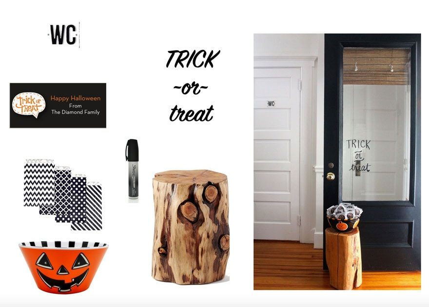 halloween door ideas on white background