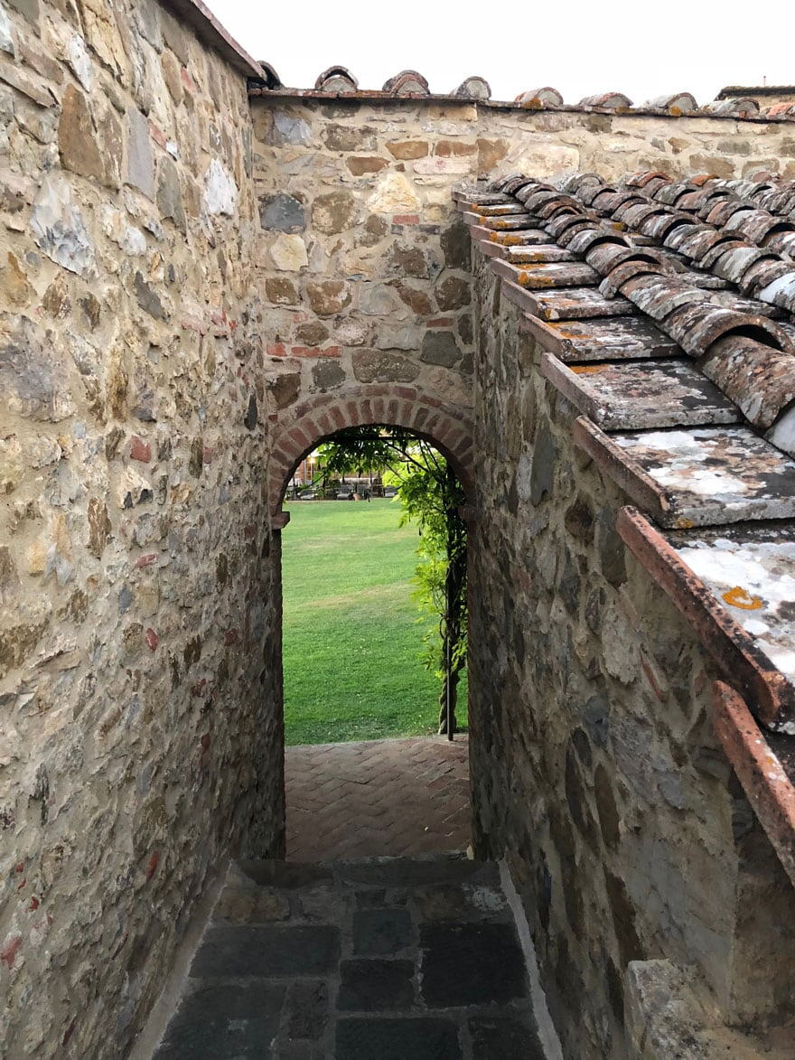 stone passageway in an Italian countryside building