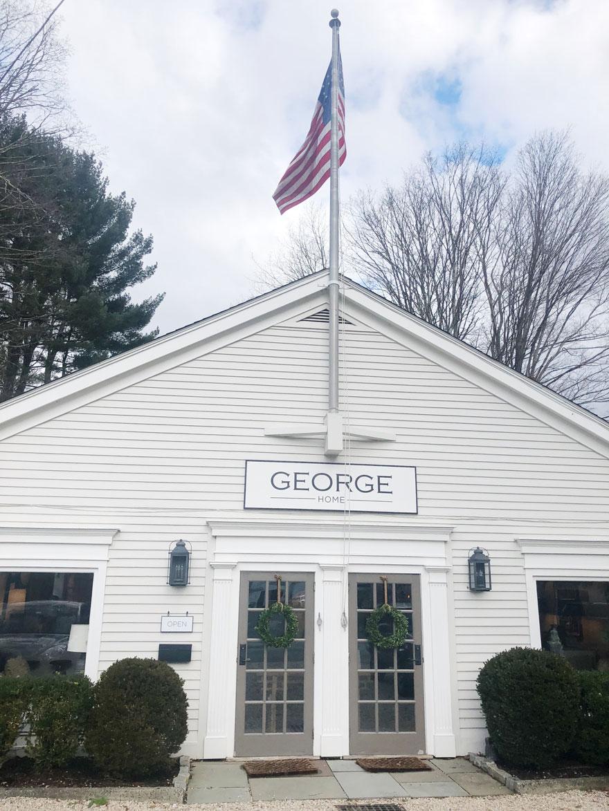 building exterior, usa flag, sign
