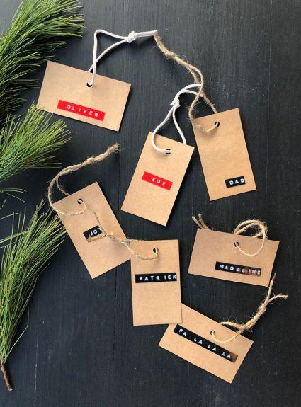 Easy gift tags to make + last minute stocking stuffers from Amazon