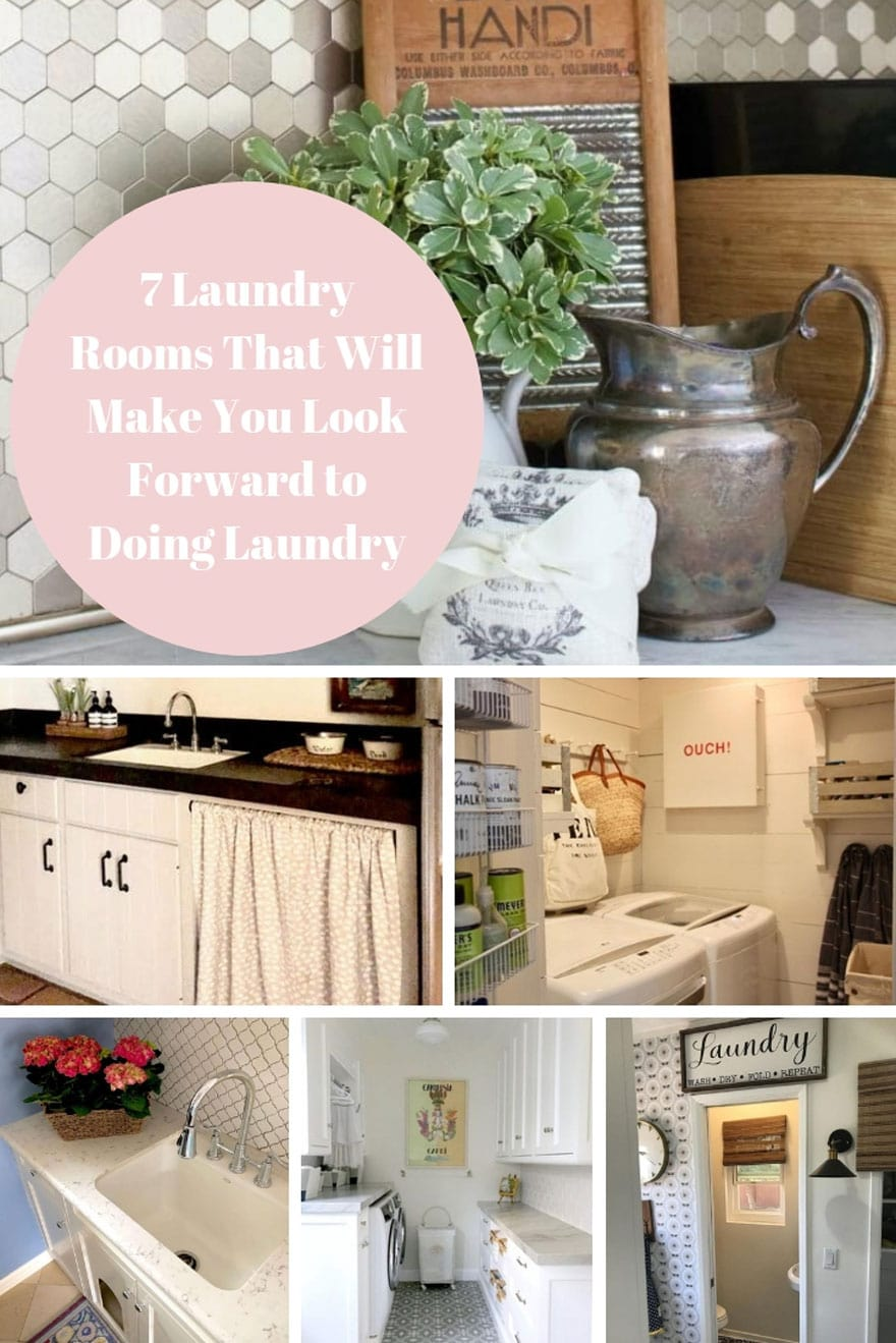 collage with laundry rooms