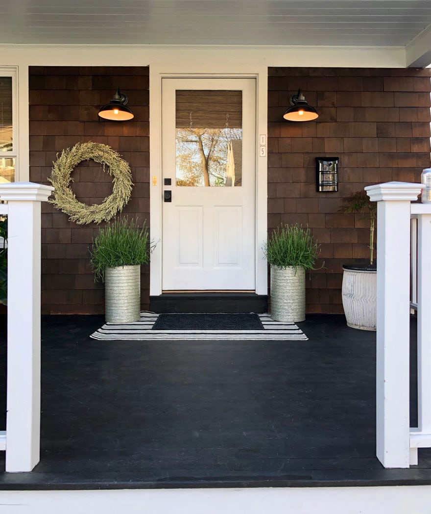 porch, wreath, planters, door, glassdoor