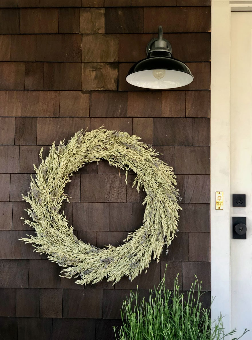 lavender wreath, sconce