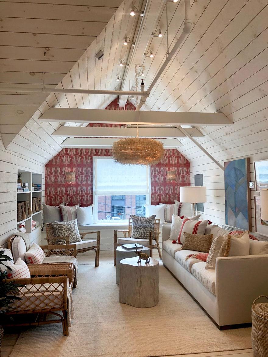 attic loft space vaulted walls