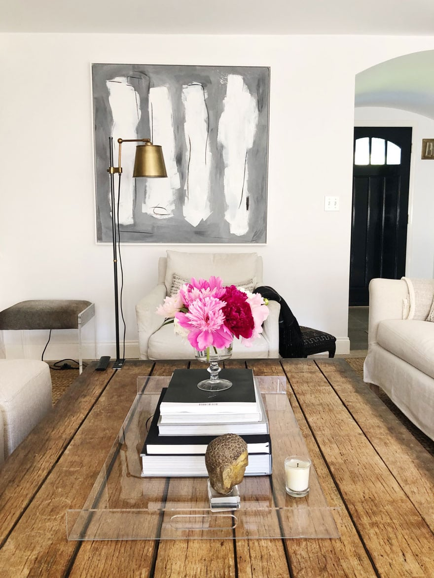 art, peonies, rustic table top