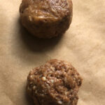 no bake cookie balls on parchment paper