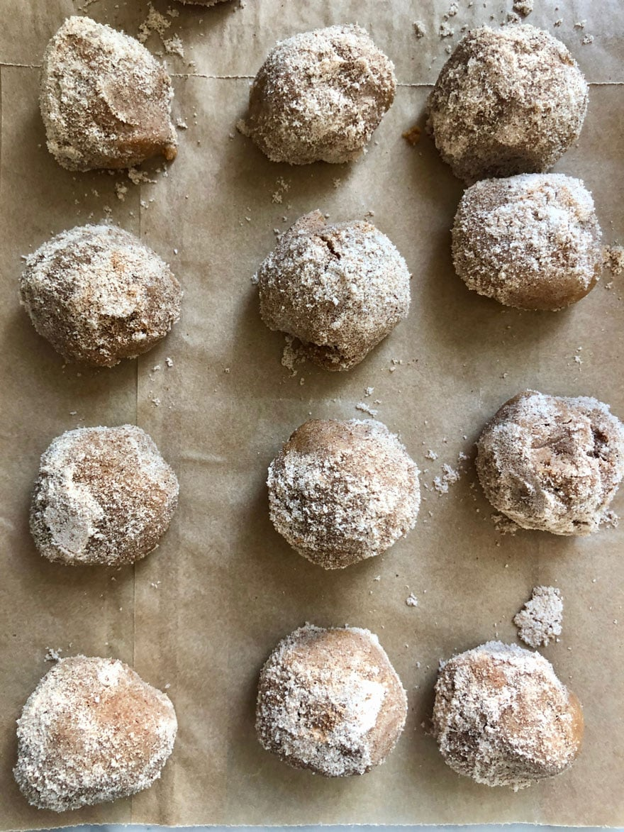 no-bake cookies on parchment paper