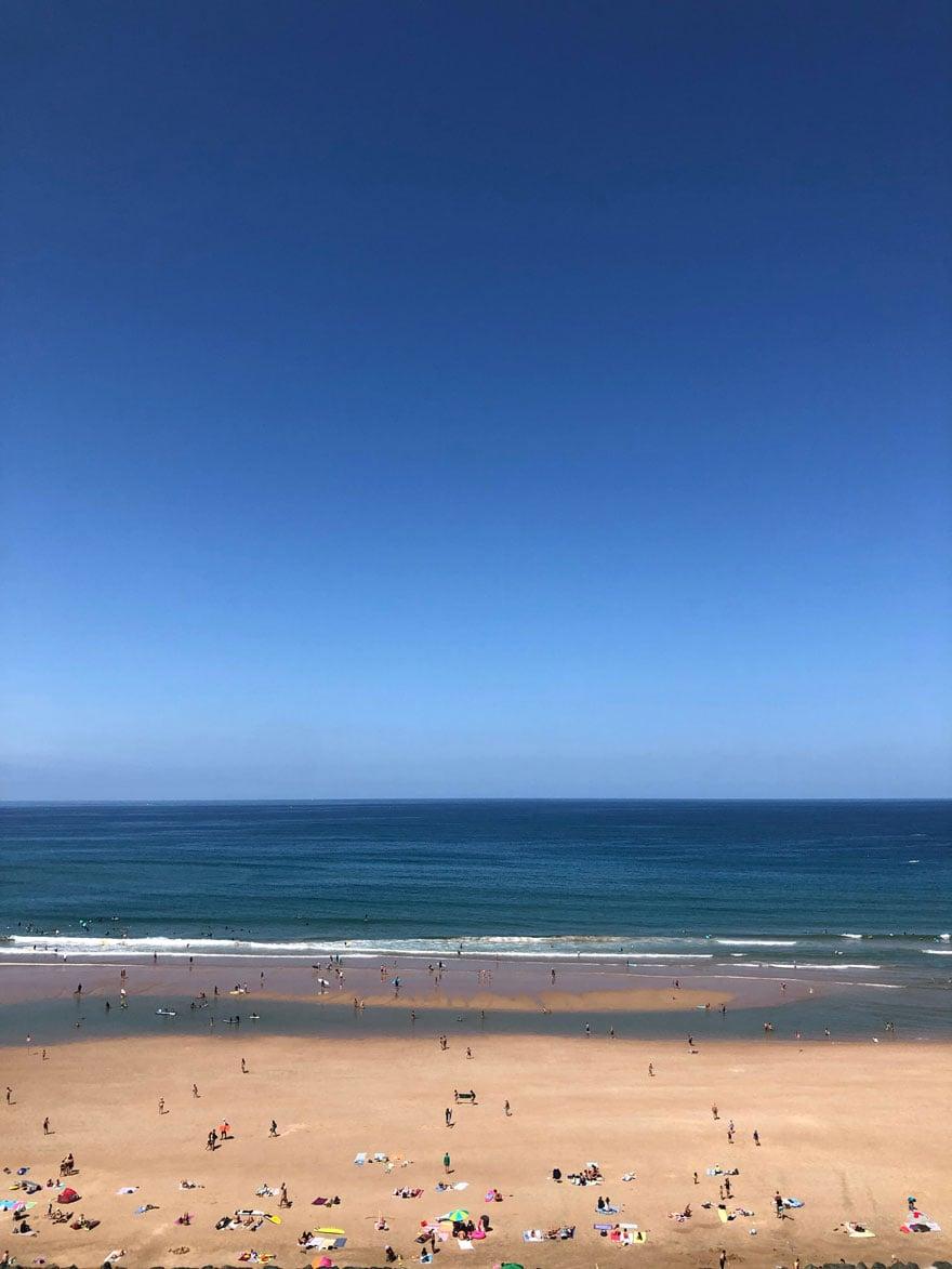 surf, sand, blue sky