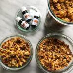 jars of granola and essential oils