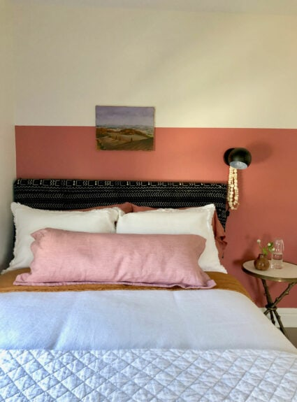 The Garnet Hill Bedding that Inspired Painting a Wall Pink Sky