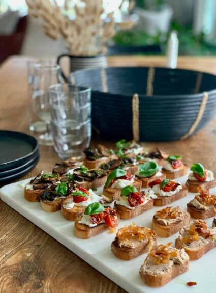 Easy appetizers for holiday entertaining