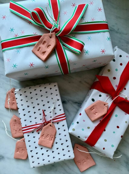DIY Clay ornaments & Gift tags
