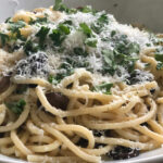 picci with herbs mushrooms