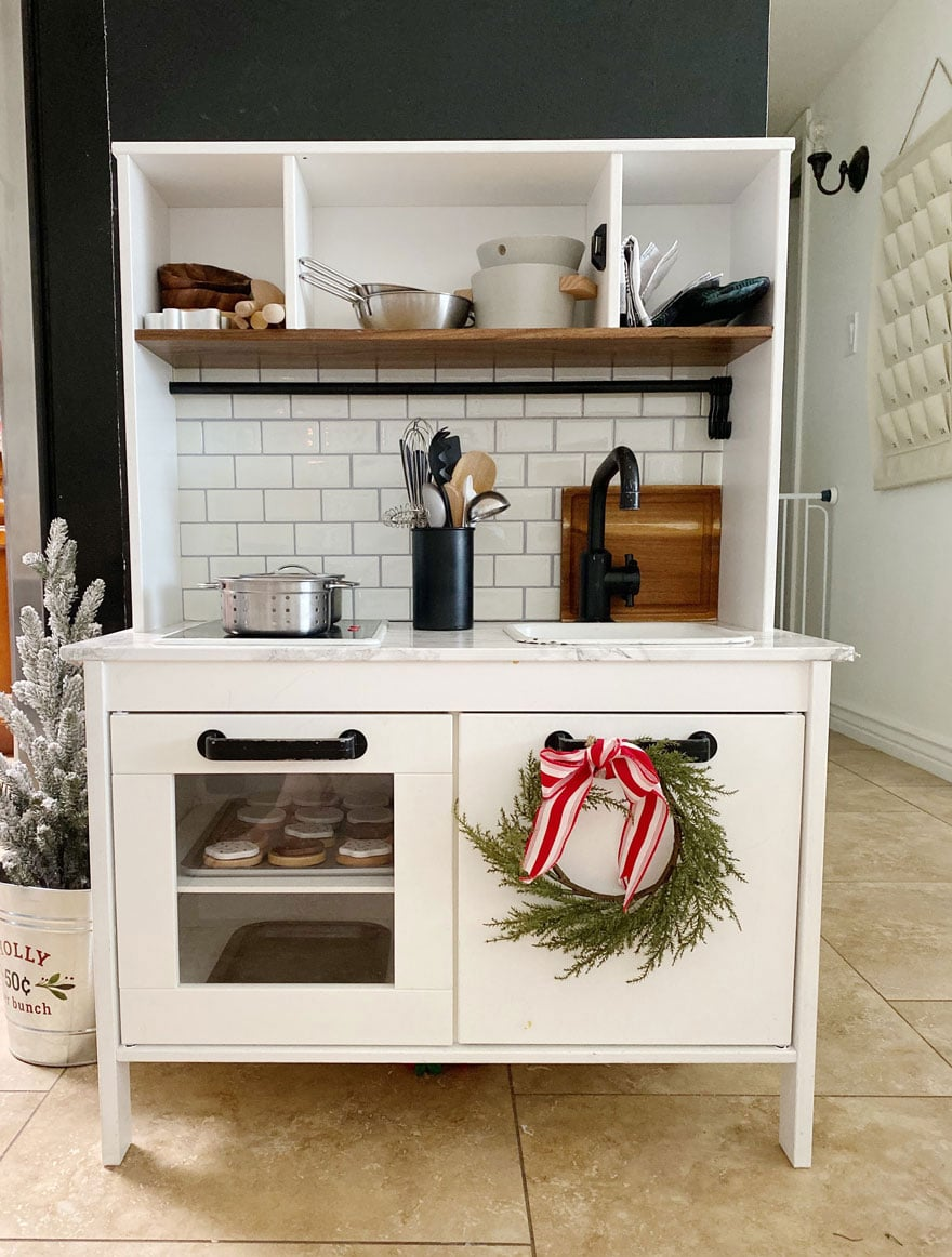 a small play ikea kitchen for kids