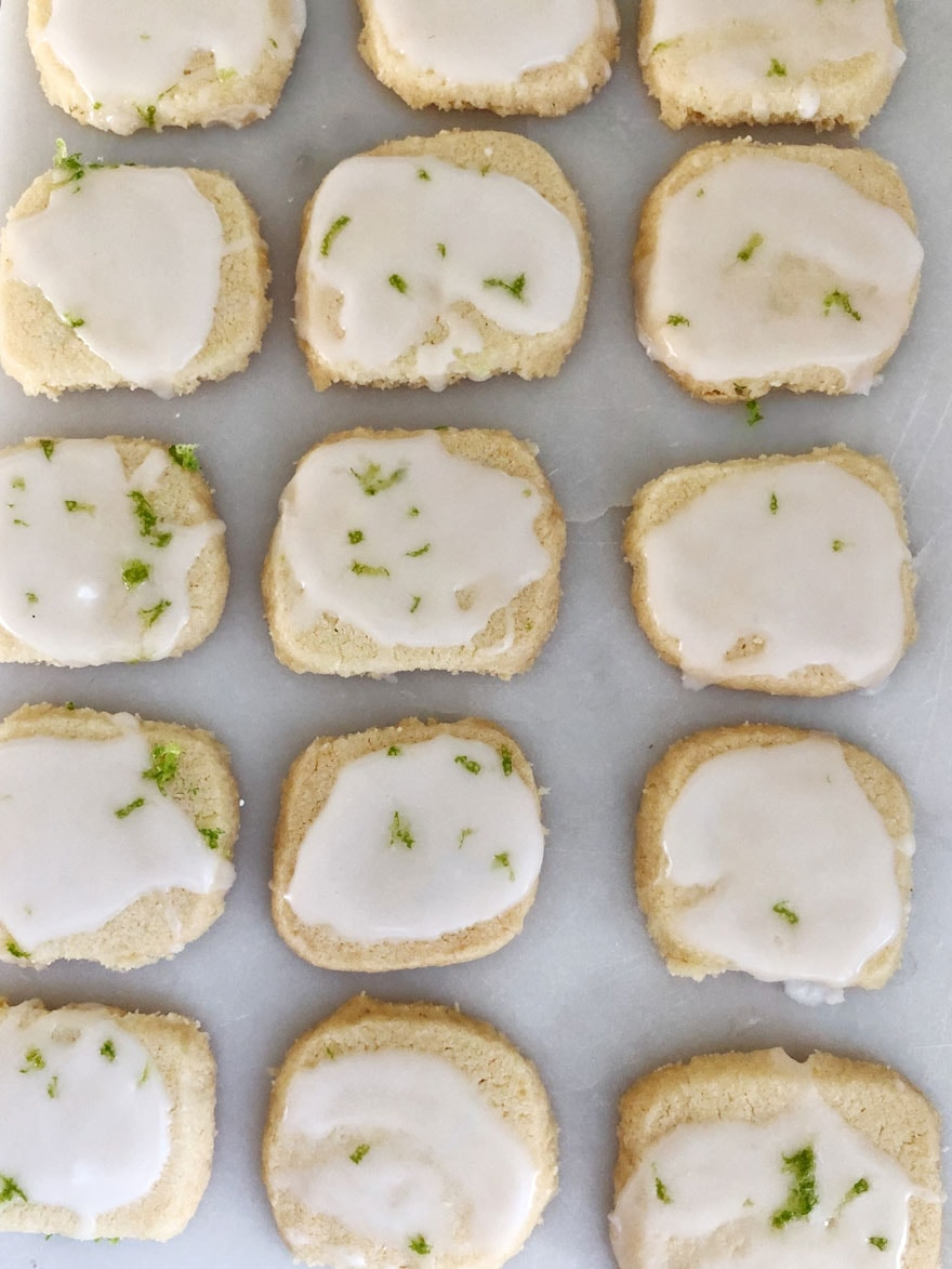 tiny cookies on parchment paper