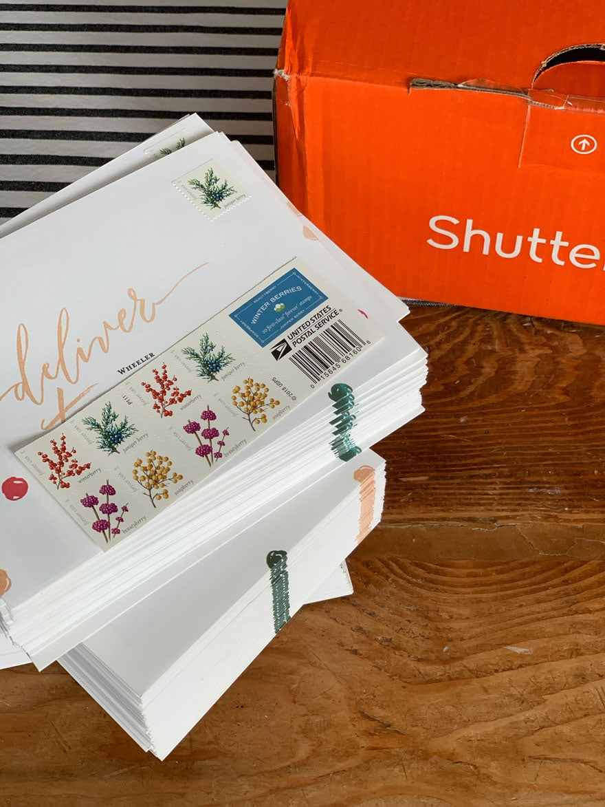 envelopes with stamps
