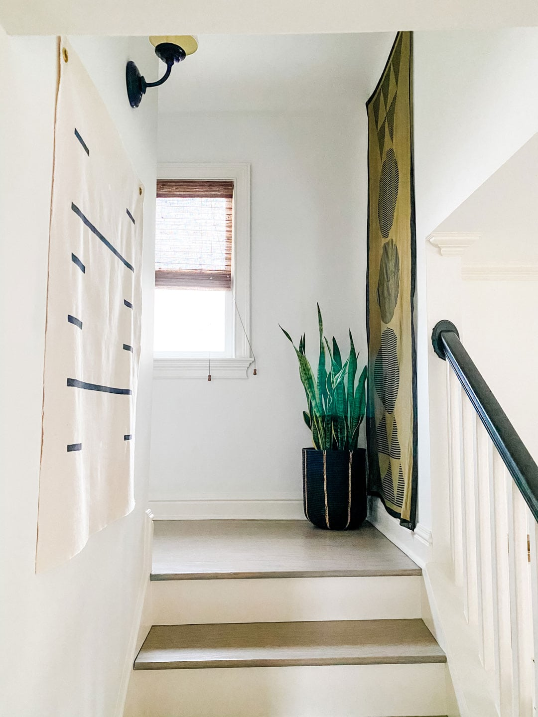 "Lifestyle blogger Annie Diamond shares some simple ideas for diy and other types of ""art"" in narrow hallways"