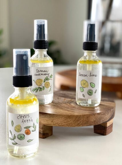 DIY Citrus Room Sprays