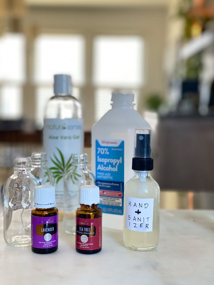 ingredients for diy hand sanitizer