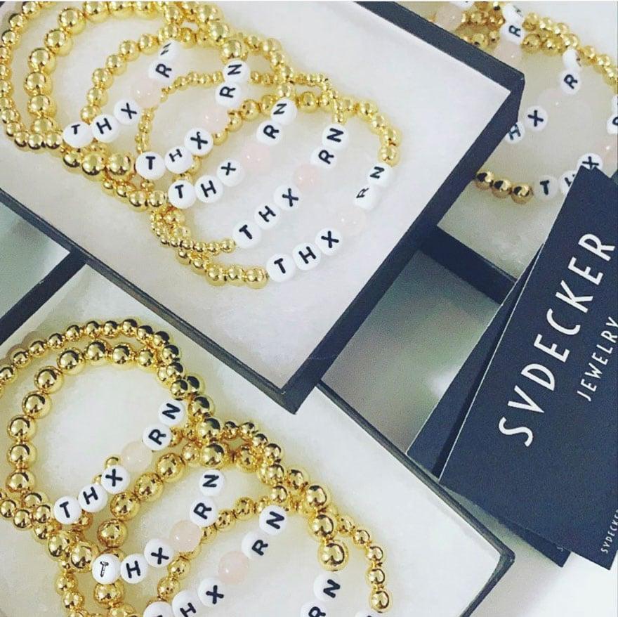 bracelets beads gold