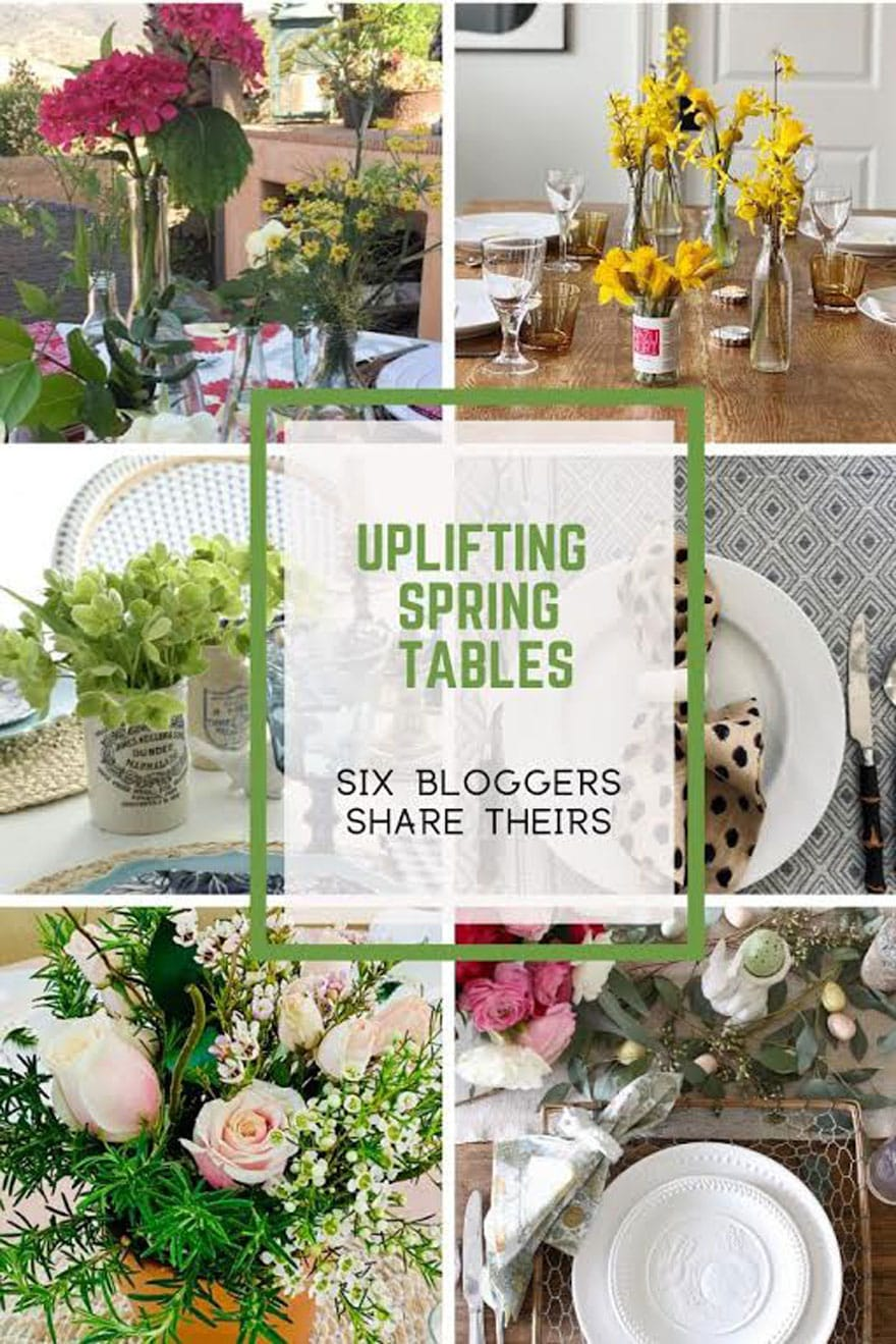 collage flowers/tables with text overlay