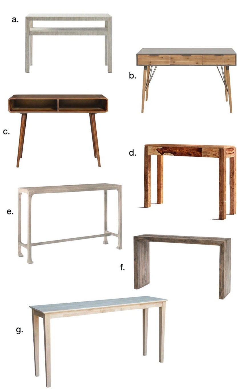 7 Console Tables That Could Double As A, Sofa Table Desk With Stools