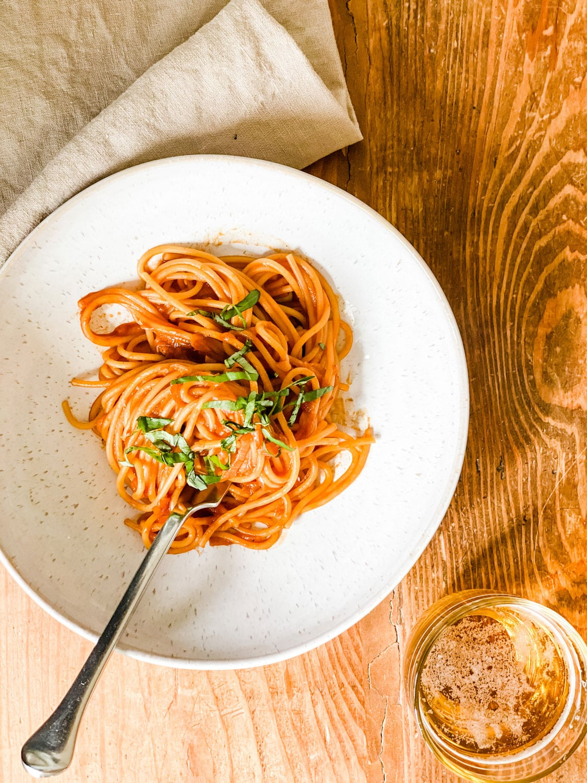 caramelized shallot pasta